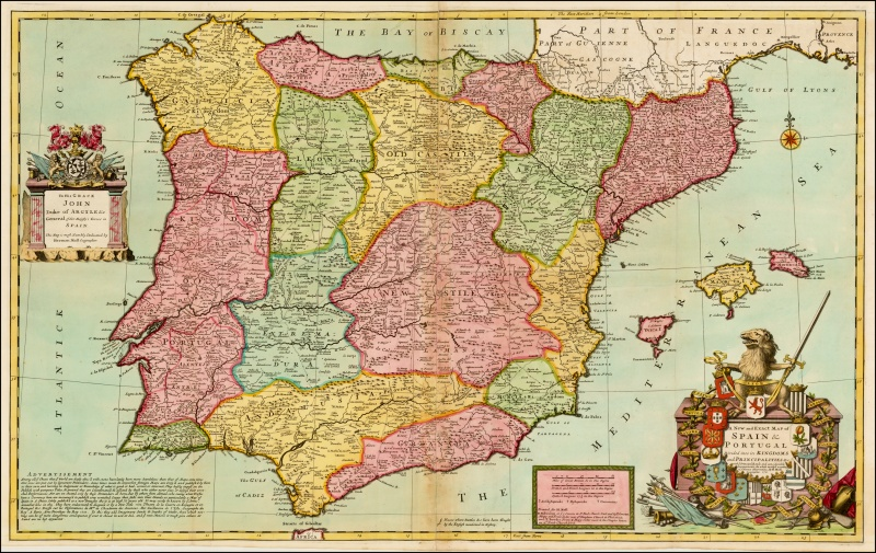 A New and Exact Map of Spain & Portugal (Herman Moll 1711).jpg