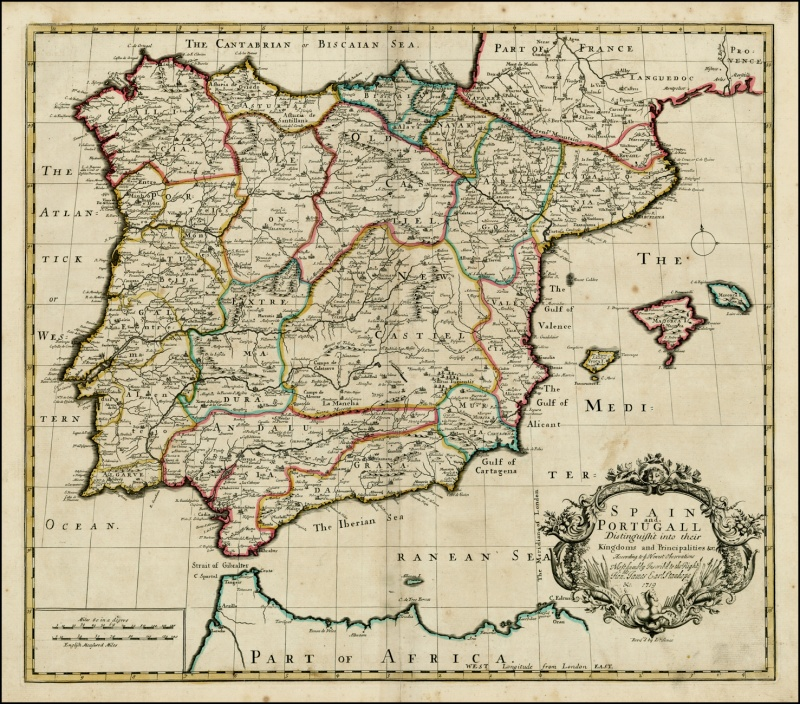 Spain and Portugall into their Kingdoms and Principalities (John Senex 1719).jpg